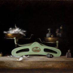 Dana Zaltzman, Weigh- Scale with Feather